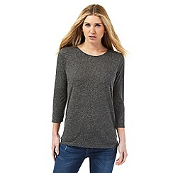 Nine by Savannah Miller - Dark grey linen blend top