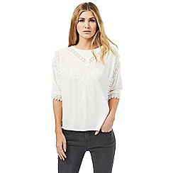 Nine by Savannah Miller - Cream pom-pom detail top