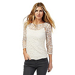 Nine by Savannah Miller - Cream lace top