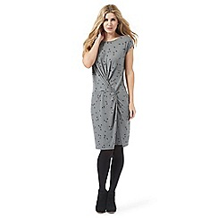 Nine by Savannah Miller - Grey swallow print jersey dress
