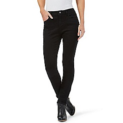 Nine by Savannah Miller - Black skinny ankle zip jeans