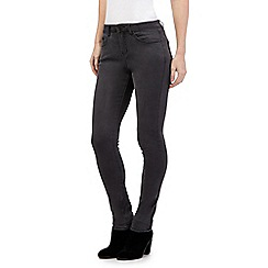 Nine by Savannah Miller - Dark grey skinny ankle zip jeans