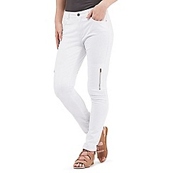 Nine by Savannah Miller - White skinny cargo jeans