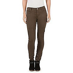 Nine by Savannah Miller - Dark green skinny cargo jeans