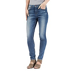Nine by Savannah Miller - Mid blue skinny subtle rip jeans