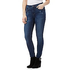 Nine by Savannah Miller - Blue skinny subtle rip jeans