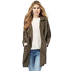 Nine by Savannah Miller - Khaki green soft trench coat