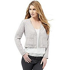 Nine by Savannah Miller - Light grey sequin embellished jacket
