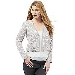 Nine by Savannah Miller - Light grey sequin embellished jacket