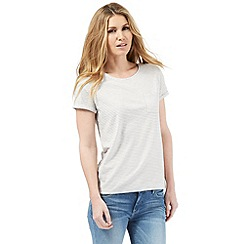 Nine by Savannah Miller - Light grey striped t-shirt