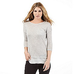 Nine by Savannah Miller - Light grey layered top