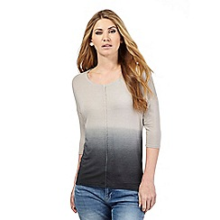 Nine by Savannah Miller - Grey ombre effect top