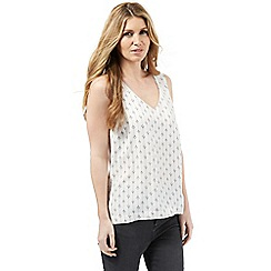 Nine by Savannah Miller - White printed long-line top