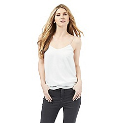 Nine by Savannah Miller - Ivory and grey double layer camisole top