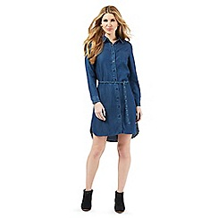 Nine by Savannah Miller - Blue soft denim shirt dress