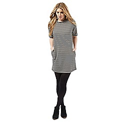 Nine by Savannah Miller - Black and ivory striped dress