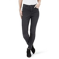 Nine by Savannah Miller - Dark grey skinny button detail jeans