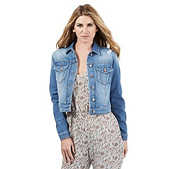 Nine by Savannah Miller - Mid-blue washed denim jacket