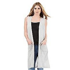 Nine by Savannah Miller - Grey sleeveless long-line cardigan