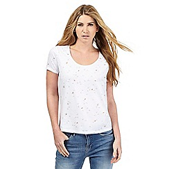 Nine by Savannah Miller - White swallow print t-shirt