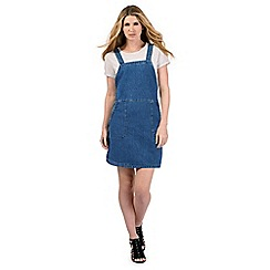 Nine by Savannah Miller - Denim dungaree dress