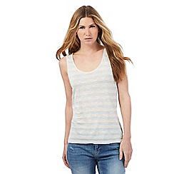 Nine by Savannah Miller - Pale grey and white striped vest