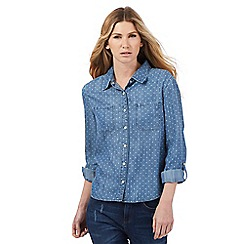 Nine by Savannah Miller - Blue star print denim shirt