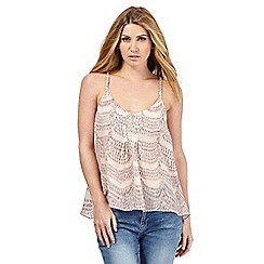 Nine by Savannah Miller - Ivory scalloped print camisole