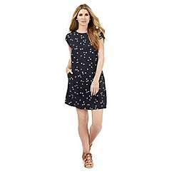 Nine by Savannah Miller - Navy blue swallow print shift dress