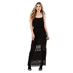 Nine by Savannah Miller - Black lace detail maxi dress