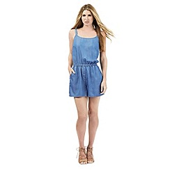 Nine by Savannah Miller - Blue soft denim playsuit