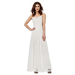 Nine by Savannah Miller - White tiered maxi dress