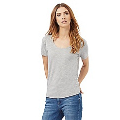 Nine by Savannah Miller - Grey fine striped t-shirt
