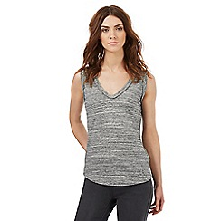 Nine by Savannah Miller - Grey plaited trim vest