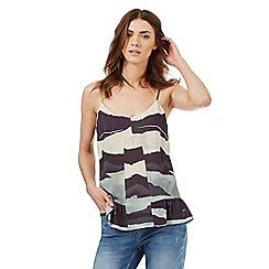 Nine by Savannah Miller - Blue and green mountain print camisole