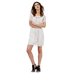 Nine by Savannah Miller - White cutwork lace dress
