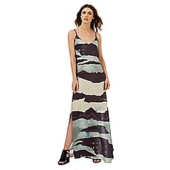 Nine by Savannah Miller - Blue and green mountain print maxi dress