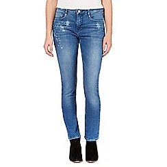 Nine by Savannah Miller - Blue star detail slim leg jeans