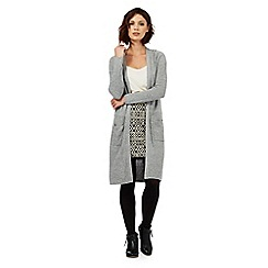 Nine by Savannah Miller - Grey woollen longline cardigan