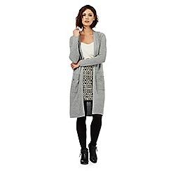 Nine by Savannah Miller - Grey woollen longline cardigan
