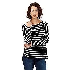 Nine by Savannah Miller - Navy blue striped jumper