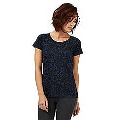 Nine by Savannah Miller - Blue and black animal print t-shirt