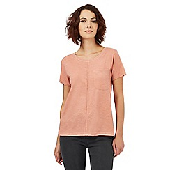 Nine by Savannah Miller - Rose pink pocket detail t-shirt