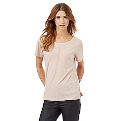 Nine by Savannah Miller - Light pink pocket detail t-shirt