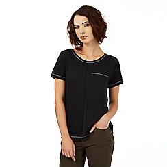 Nine by Savannah Miller - Dark grey pocket detail t-shirt
