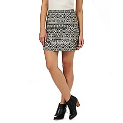 Nine by Savannah Miller - Black and cream Aztec inspired skirt