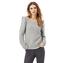 Nine by Savannah Miller - Grey frill detail jumper with wool