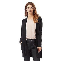 Nine by Savannah Miller - Dark grey cotton and cashmere blend longline cardigan