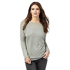 Nine by Savannah Miller - Green layered twist back top with linen