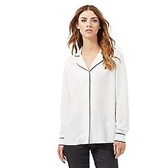 Nine by Savannah Miller - Ivory pyjama style blouse